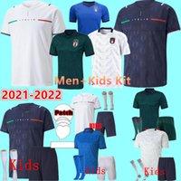 2021 2022 Italia Soccer Jersey Home Aloy Away Jorginho El Shaarawy Bonucci Insigne BernardeSchi Jerseys Hombres adultos + Kit Kit Niños Niño Juvenil 22 Camisas de fútbol