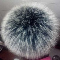 100% Real Fur Pompoms Fluffy Fox Fur Pom Balls DIY Natural Raccoon Pompons Accessories For Scarves Hats Bags Shoes 13-14cm Y0911