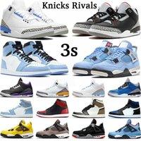 Hombre 3 High OG Baloncesto Zapatos de baloncesto 3s Knicks Rivals Black Cemento Georgetown UNC Katrina Tinker Ture Blue Fire Red Hombres Mujeres Zapatillas de deporte Entrenador