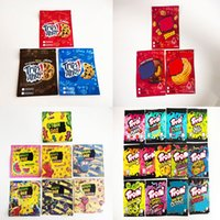 Stock sale resealable edible Mylar Bags Trips Ahoy warheads errlli Trolli Trrlli airheads Cannaburst gummies bite edibles ziplock packaging bag runtz