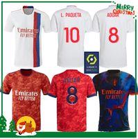 21 22 Lyon White Sports Fussball Jersey 2021 2022 Home Away 3. Erwachsene Männer + Kinder Kit Fußball Hemd