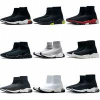 2021 balenciaga balenciaca balanciaga Tasarımcı Erkekler Triple S Kadın Hız 2.0 Örme Streç Taban Eğitmen Çorap Çizmeler Çorap Siyah Boot Spor Ayakkabı Ayakkabı Rahat Sneakers