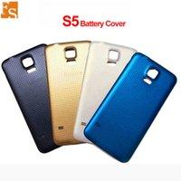 OEM için Samsung Galaxy S5 G900F G900T G900M Arka Arka Pil Kapağı Kapak Kauçuk Mat Ile Kauçuk Mat Su Geçirmez Yedek Parçalar 100 adet Ücretsiz DHL UPS