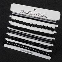 6 pcs pack Charm Black Velvet Lace Multilayers Pendant Choker Necklace Women Collar Necklace Party Jewelry Neck Accessories 2164 Q2