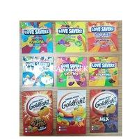 600MG Edibles packaging bag Infusted treat Love savers budhead TRIPS AHOY gummies Goldfishz cereal sour cannaburst gummy mylar bags