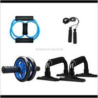 Walzen Bauchrad AB Roller 5in1 Kernmuskel Übung Fitnessgeräte für Home Gym Workout mit Pushup BAR Jump Seil SXXG8 R94C1