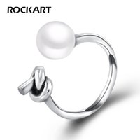 Natural Fresh-water Pearl Antique Cuff Ring For Women Adjustable 925 Sterling Silver Fine Jewelry Anniversary Presents