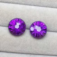 Natural Amethyst beautiful Violet Earrings raw material 7.6ct Specifications 10*7.3mm H1015