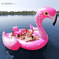 Big Size Can Hold 6-7 Persons Inflatable Giant Pink Flamingo Pool Float Large Lake Float Inflatable Unicorn Peacock Float Island Water Toys swim Pool Fun Raft BJ24