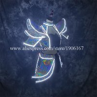 Party Decoration LED Luminous Clothes Nightclub Bar Stage Ballroom Costumes Lighting Up Festival Event Sexy Dress Performance Clothing