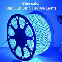 Strips SMD LED Strip Flexible Light 60leds m Outdoor Waterproof Tape Neon Ribbon 220V With Power Plug 1M 5M 10M 15M 20M