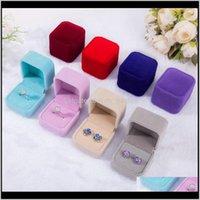 Fashion Veet Boxen Hüllen für nur Ringe Ohrstecker 12 Farbe Schmuck Geschenkverpackung Display Größe 5cm45cm4cm lijxg Zody9