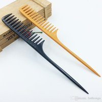2 Colors Professional Tip Tail Comb for Salon Barber Section Hair Brush Hairdressing Tool DIY Hair Wide Teeth Combs wholesale