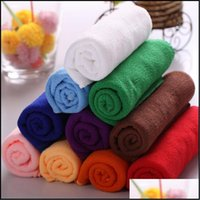 Textiles Home & Gardenyh8048 Square Soft Towel Car Wash Clean Cloth Microfiber Care Hand Towels House Cleaning 25X25Cm Drop Delivery 2021 Ow