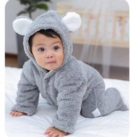 Carriers, Slings & Backpacks Pink White Brown Gray Born Baby Romper Autumn Winter Warm Fleece Infant Boy Girls Jumpsuit Pajamas Clothes