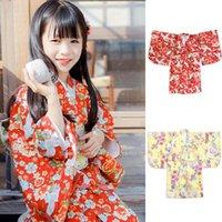 Дети девочки японские традиционные кимоно халат юката Haori дети китайский стиль ретро печать пижамы винтажная вечеринка косплей костюм этнических сгусток