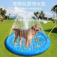 Kennels & Pens Dog Swimming Pool Kennel Outdoor Water Toy Lawn Inflatable Sprinkler Play Mat For Children