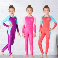 One-Piece Suits Lycra Sun Protective Rash Guard Girls Swimsuits Full Body Kids Swimwear One Pieces Surfing Diving Wetsuits Swimming DCE