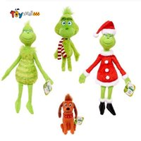 2021 크리스마스 Grinch 훔쳐간 봉제 장난감 그린치 인형 장난감 최대 개 인형 어린이를위한 만화 동물 peluche 크리스마스 선물