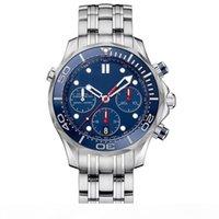 Relojes de cronómetros de cronómetro para hombre Relojes de lujo Calendario de cuarzo Relojes de pulsera de acero inoxidable Hombres de negocios relojes al por mayor