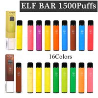 ELF BAR 1500 Puffs Disposable Vape Pen E Cigarette 16 Colors kits Device vs GEEK Bar PRO