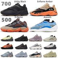2021 Kanye  700 V1 V2 V3 MNVN Wave Runner Mene Sneakers أحذية Azael الفح Azareth فائدة سوداء الصلبة الرمادي الفسفور البرتقالي إمرأة # 25