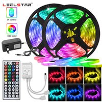 Strips Color Changing RGB LED Light String DC 12V With Remote Rainbow Neon Strip Not Waterproof For Room Wall Bedroom