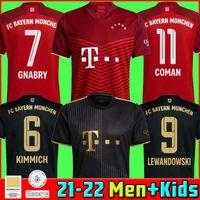 Bayern Soccer Jersey 21 22 Lewandowski Sane Munich Kimmich Coman Muller Davies Football Shirt Men Kids Kit 2021 2022 HumeRrace الرابع 4th Thai