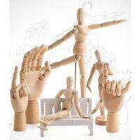 رسم رسم عارضة عارضة نموذج المنقولة أطرافه خشبية اليد الجسم العمل أرقام ديكور المنزل نماذج الفنان المحملة هدايا دمية q0421