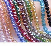 متعدد الألوان مطلي أب عداد كريستال زجاج فضفاض الخرز الأوجه الألوان صنع المجوهرات