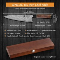 Stainless steel Kitchen Knifen Meat Cleaver Boning Butcher Knife XINZUO 8.5'' Box China Survival Cover Hunting Fish Chef Knifes