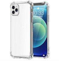 Premium à prova de choque à prova de choque casos de telefone macio tpu silicone tampa traseira caso transparente para iphone 13 12 11 pro max xs xr x 8 7 plus huawei p50 xiaomi redmi nota samsung s20 s21