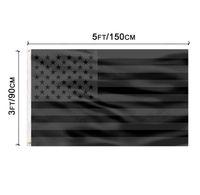 3x5ft الأسود العلم الأمريكي البوليستر لن يعطى لنا الربع لنا الولايات المتحدة الأمريكية سلام حماية التاريخ التاريخي على الوجهين في الهواء الطلق في الهواء الطلق SN2741