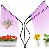 Garden Decorations Full-spectrum USB Clip Plant Grow-light Three Tube Timing Fill-light Plants Seedlings Flower Indoor Grow Box Lamp