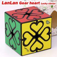 Puzzle Magic Cube Lanlan Getriebe Herz Glücksklee Seltsame Form Professionelle Geschwindigkeitswürfel Pädagogische Logik Spiel Romantisches Geschenk Spielzeug