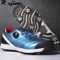 Zapatillas de golf R. Xjian Shoes Hombres impermeable Deporte al aire libre Cómodo nuevo antideslizante Caminar 0908