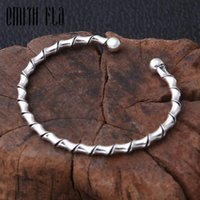 Trendy 925 Sterling Silver Twist Bracelets Opening Simple Bangles Punk Bracelet For Women Men Gifts Jewelry Charm Bangle