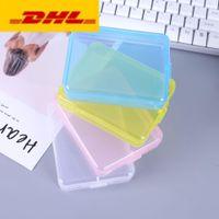 حالات الحاويات تحطم حالة بطاقة حالة بطاقة ذاكرة حاوية مربع بطاقة cf بطاقة أداة تخزين شفافة البلاستيك سهلة لتحمل HWC7207