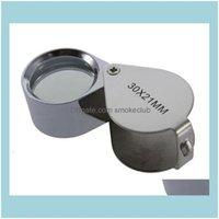 Inne optyka Optyczna analiza pomiaru Instrumenty Office School Business Business Wholesale Szybkie 180 Sztuk 30x 21mm Jewellers Eye Magnif