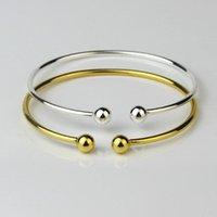 12pcs lot Korean Version Silver Garlic Head Bracelet Opening C Shaped Simple Gift Bangle