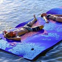 Pad de água flutuante esteira resistente a lágrimas 2-camada XPE ilha roll-up para piscina lago oceano natação inflável flutua tubos
