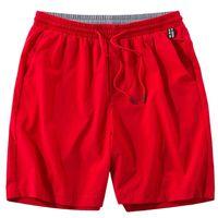 Anbican Fashion Red Casual Shorts Hombres Marca de verano Seco rápido Playa Male Playa grande 5XL 6XL 7XL 8XL 210806