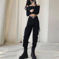 여성용 바지 Capris LatimeLon 게시물 여성 바지 솔리드 포켓 스트리트웨어 한국어 패션 캐주얼 학생 Pantalon Femme Spring 13655 L33W