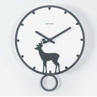 Wall Clocks Nordic Modern Design Clock Wood Silent Watch Mechanism Secret Stash Living Room Digital Relogio Parede Watch214