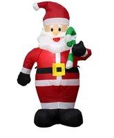 Weihnachtsmann Lebkuchen Mann Weihnachten Schlauchblech Innen- und Outdoor-Dekoration mit LED-Lichter Blow Up Beleuchtet Yard Rasen Festliche Party Decor 4.9ft