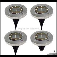 Decorations 8 Led Solar Lawn Outdoor Garden Floor Lamp Patio Decoration Lights Fast Pklib Ypj1H