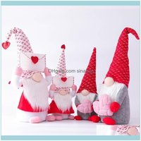 Decorative Aents Décor Gardendecorative Objects & Figurines Faceless Doll Gnome Love Heart Envelope Plush Valentines Day Holiday Kid Toy Hom
