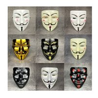 1pcs V for Vendetta Anonymous Mask Halloween Masquerade Scary Masks Party Supplies Cosplay Costume Accessory Props