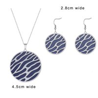 Earrings & Necklace Koame Fashion Stainless Steel Interchangeable Leather Pendant Set Jewelry 2021 Boucle Oreille Femme