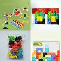 Nuovo 20 pz / 40pcs Tetris Blocks Keepsakes Fidget Reliver Stress Toys Puzzle Push Bubble Antistress Sensory Toy per alleviare Autism 83 H1